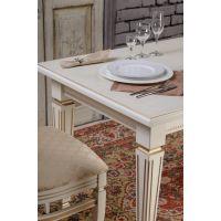 Стол обеденный кухонный Васко 01 раздвижной белый