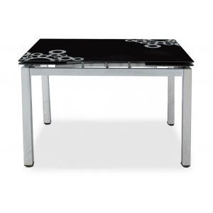 Стол обеденный раздвижной S17 BLACK/ХРОМ