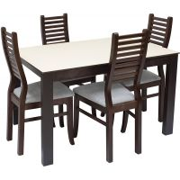 Стол обеденный Leset Делавэр 1Р раздвижной «Тёмный»