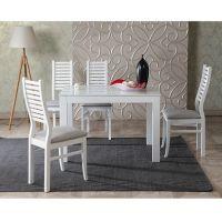 Стол обеденный Leset Делавэр 1Р раздвижной «Белый»