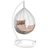Подвесное кресло SEVILLA Velour Белое