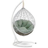 Подвесное кресло SEVILLA Velour Verde Белое