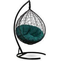 Подвесное кресло SEVILLA Velour Verde Чёрное