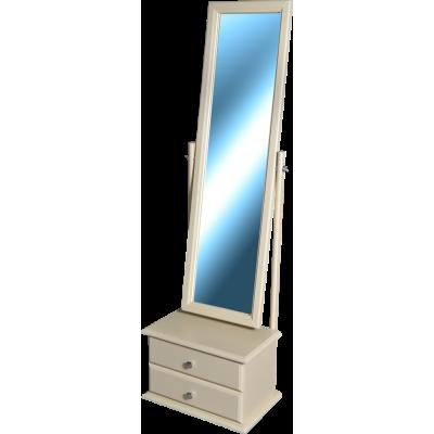 Зеркало напольное Селена «Светлое» с тумбой