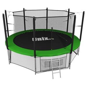 Батут с сеткой UNIX line 14 ft inside Green (427 см)