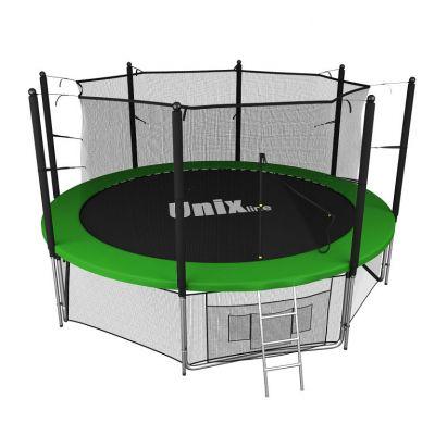 Батут с сеткой UNIX line 12 ft inside Green (366 см)
