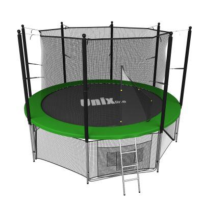 Батут с сеткой Unix Line 6 FT Inside Green (183 см)