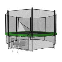 Батут с сеткой UNIX line 12 ft outside Green (366 см)