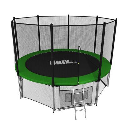 Батут с сеткой Unix Line 8 FT outside Green (244 см)