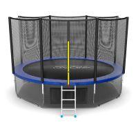 Батут EVO JUMP External 12ft (Blue) с нижней сеткой