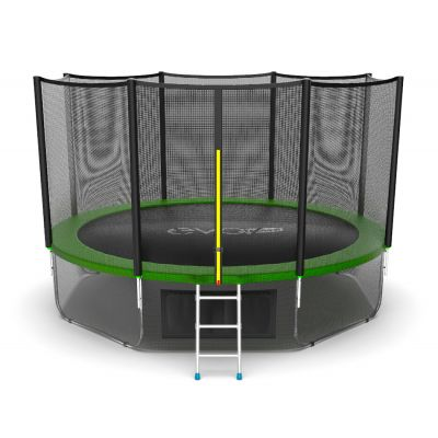 Батут EVO JUMP External 12ft (Green) с нижней сеткой