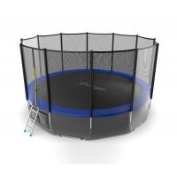 Батут EVO JUMP External 16ft (Blue) с нижней сеткой