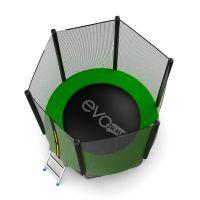 Батут EVO JUMP External 6ft (Green) с нижней сеткой
