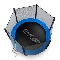 Батут EVO JUMP External 8ft (Blue) с нижней сеткой