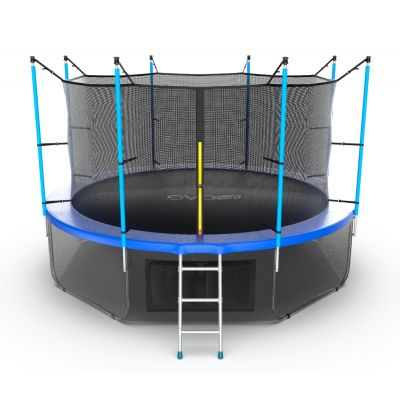 Батут EVO JUMP Internal 12ft (Blue) с нижней сеткой
