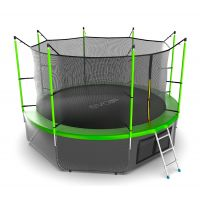 Батут EVO JUMP Internal 12ft (Green) с нижней сеткой