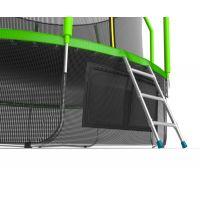 Батут EVO JUMP Cosmo 12ft (Green) с нижней сеткой