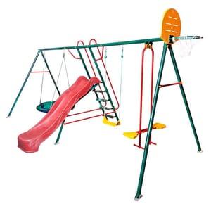 Детские качели для дачи уличные (спортивный комплекс) Солнышко-6