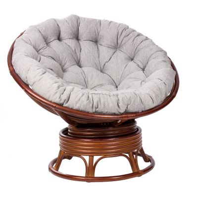 Кресло-качалка из ротанга Papasan Rocker коньяк