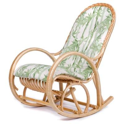 Кресло-качалка Белая Ива с подушкой (ивовая лоза)