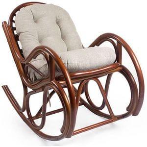 Кресло-качалка из ротанга Bella (Белла) орех