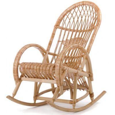 Кресло-качалка плетёное Клуша из лозы