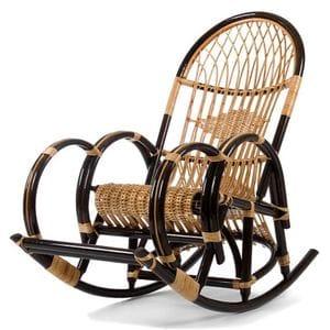 Кресло-качалка плетёное Клуша с подножкой (ивовая лоза)
