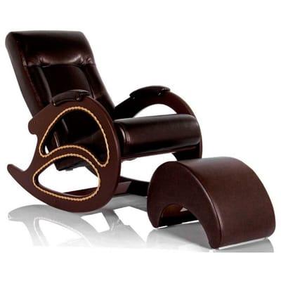 Кресло-качалка Модель 4 экокожа с банкеткой