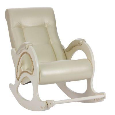 Белоснежное кресло-качалка Модель 44