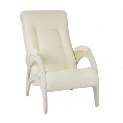Кресло для отдыха Модель 41 белоснежная экокожа