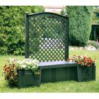 Садовая скамейка Копенгаген зелёная 43503