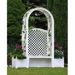 Садовая скамейка Амстердам Белая 43801
