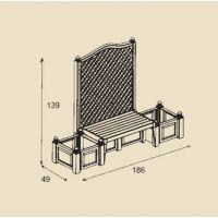 Садовая скамейка Копенгаген Антрацит 43505
