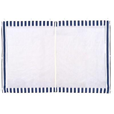 Стенка с москитной сеткой синяя