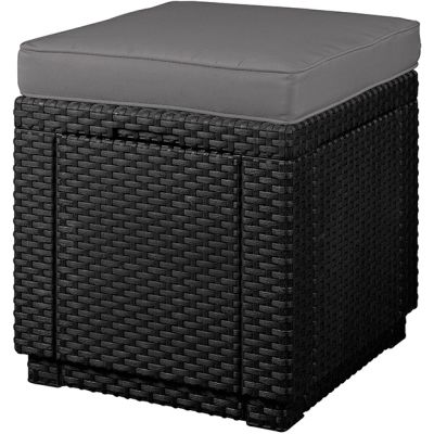 Пуфик-столик для шезлонга с ящиком