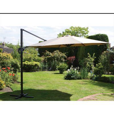 Зонт уличный садовый Garden Way A002-3500 бежевый