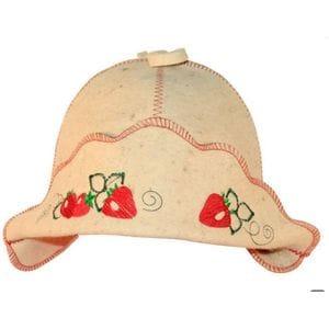 Банная шапка Клубничка