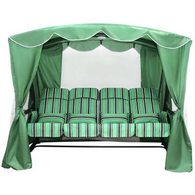 Садовые качели Монарх зелёные