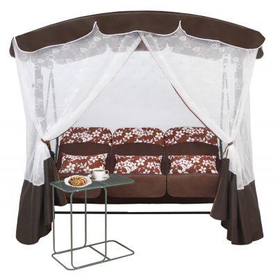 Садовые качели Венеция Шоколад + столик