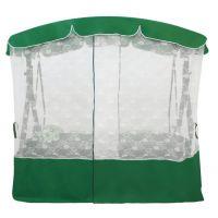 Садовые качели Венеция Зеленые + столик