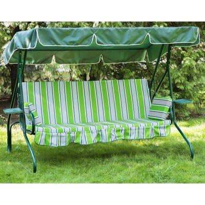 Садовые качели Люкс-2 зелёные с905
