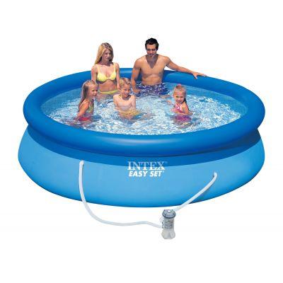 Бассейн надувной Intex Easy Set 28122 фильтр