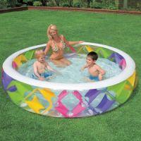 Бассейн надувной детский Делюкс 56494