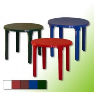 Стол пластиковый круглый 90 см ГазСервис